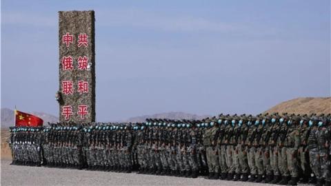 """中俄联合军演创下多个""""第一次"""""""