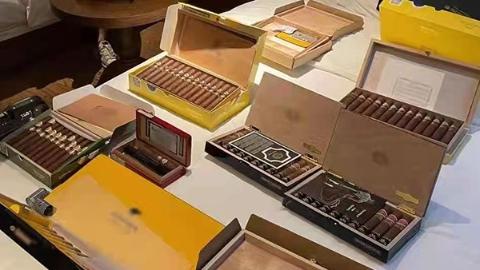 案值逾3000万元!杨浦警方侦破非法经营品牌雪茄烟案:查获雪茄烟1300余盒