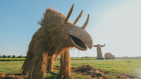 """嘉北郊野公园""""稻草文化节""""来啦!9米高的稻草雕塑等你打卡"""